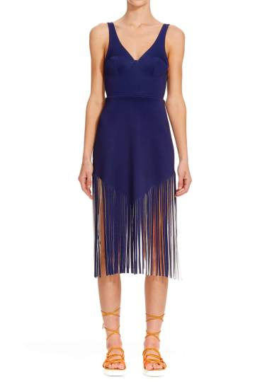 clover canyon navy fringe